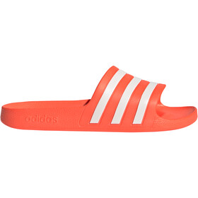 adidas Adilette Aqua Slides Women, solar red/footwear white/solar red